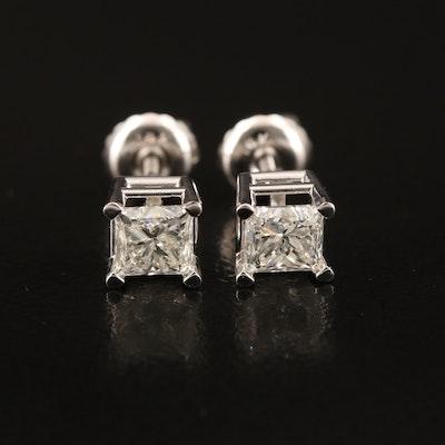 14K 0.88 CTW Diamond Stud Earrings