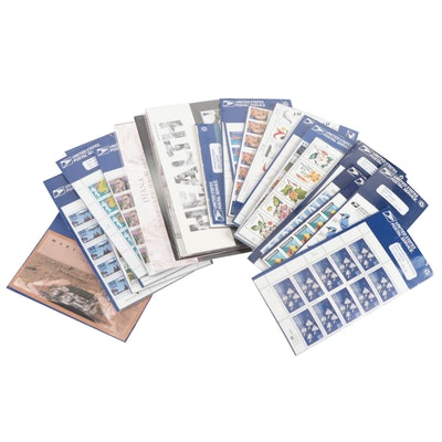 Assortment of Unopened Packs of Postage Stamp Blocks and Sets