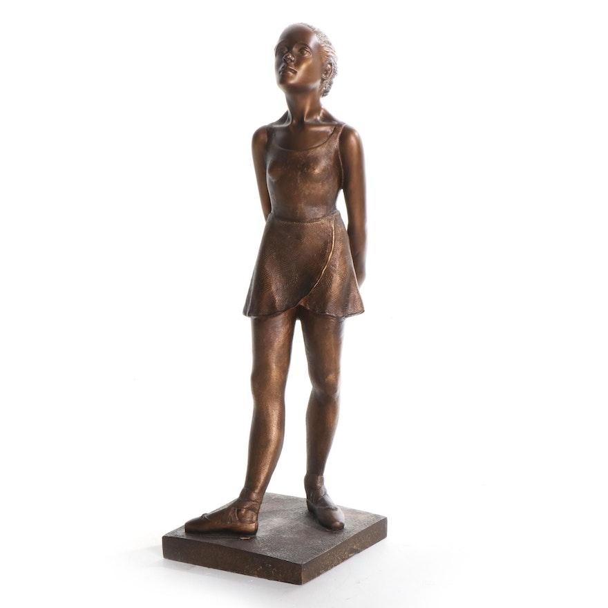 "Austin Productions ""Ballerina"" Bronze Finish Chalkware Statuette"