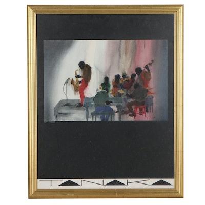 """Jim Tanaka Offset Lithograph """"Stompin' at the Savoy"""""""