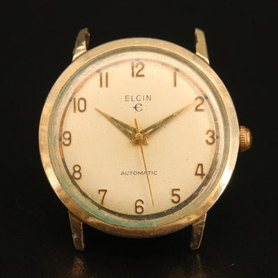 Vintage Elgin 10K Rolled Gold Plate Automatic Wristwatch