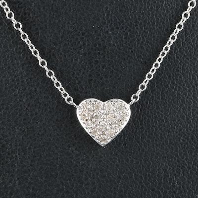 10K 0.14 CTW Diamond Heart Necklace