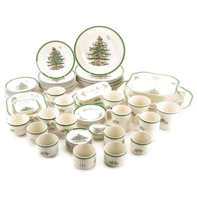"Spode ""Christmas Tree"" Dinnerware and Serveware Set"