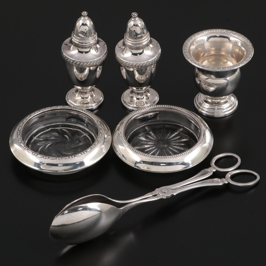 Fisher Sterling Silver Shakers with Other Sterling and Silver Plate Tableware