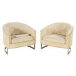 Pair of Contemporary Modernist Style Tub Chairs