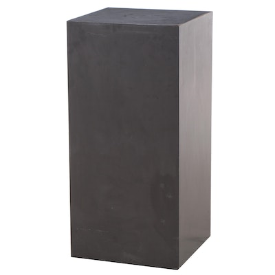 Black Laminate Pedestal Stand, Mid to Late 20th Century