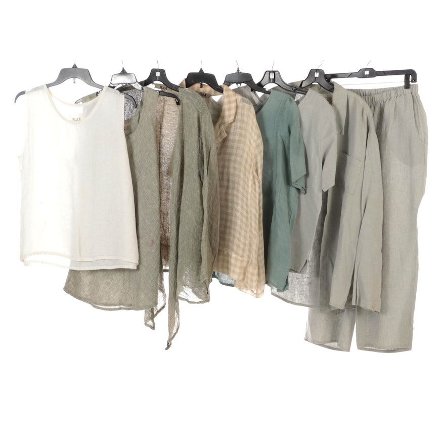 Flax Linen Separates Including Tops, Pants and Lightweight Jackets