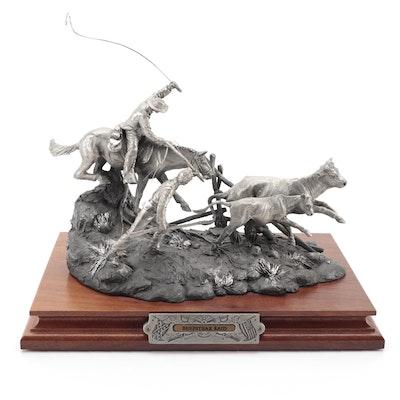 "Francis Barnum for Chilmark ""Beefsteak Raid"" Pewter Sculpture, 1996"