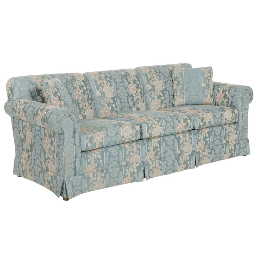 """Ethan Allen """"Traditional Classics"""" Upholstered Three-Seat Sofa"""