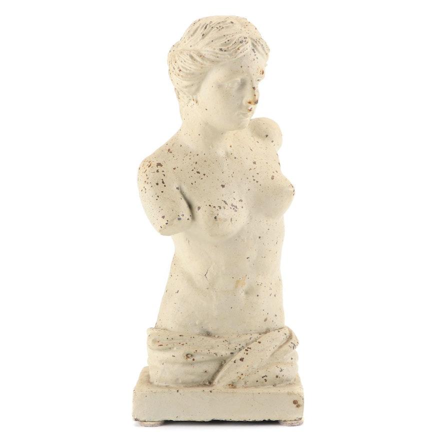Venus de Milo Painted Cast Iron Figurine