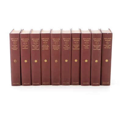 """The Sahib Edition of Rudyard Kipling"" Ten-Volume Collection, Early 20th Century"