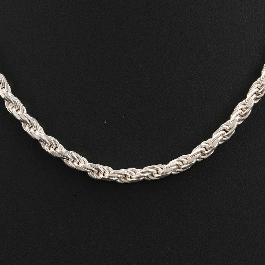 Italian Sterling Braided Rope Chain