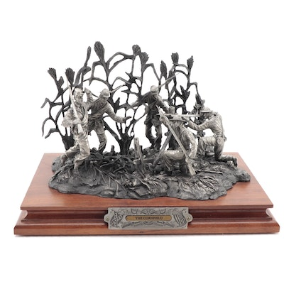 """Francis Barnum for Chilmark """"The Cornfield"""" Pewter Sculpture, 1997"""