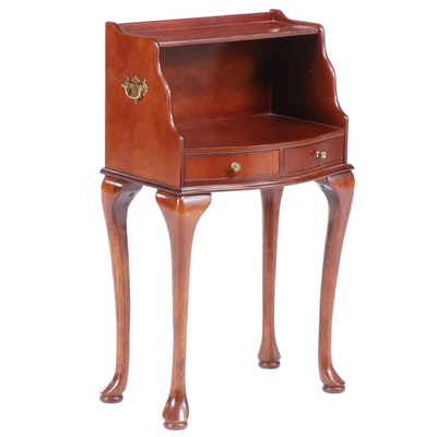 The Bombay Company Queen Anne Style Two-Tier Side Table, Late 20th Century