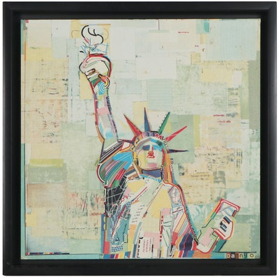 Offset Lithograph After Danny O Statue of Liberty, Late 20th Century