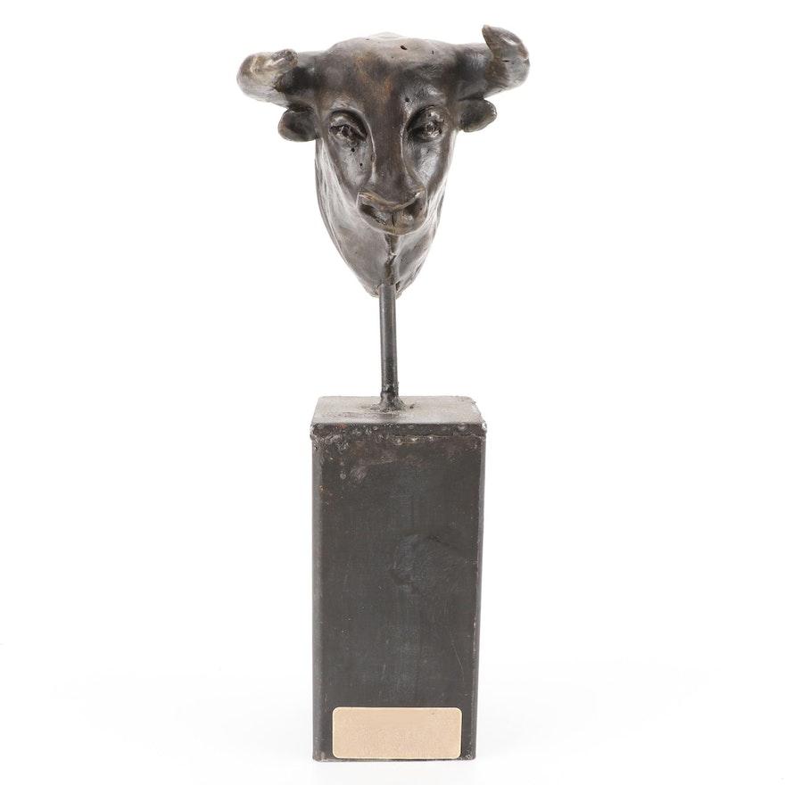 Béatrice Fernando Composite Sculpture of Bull's Head