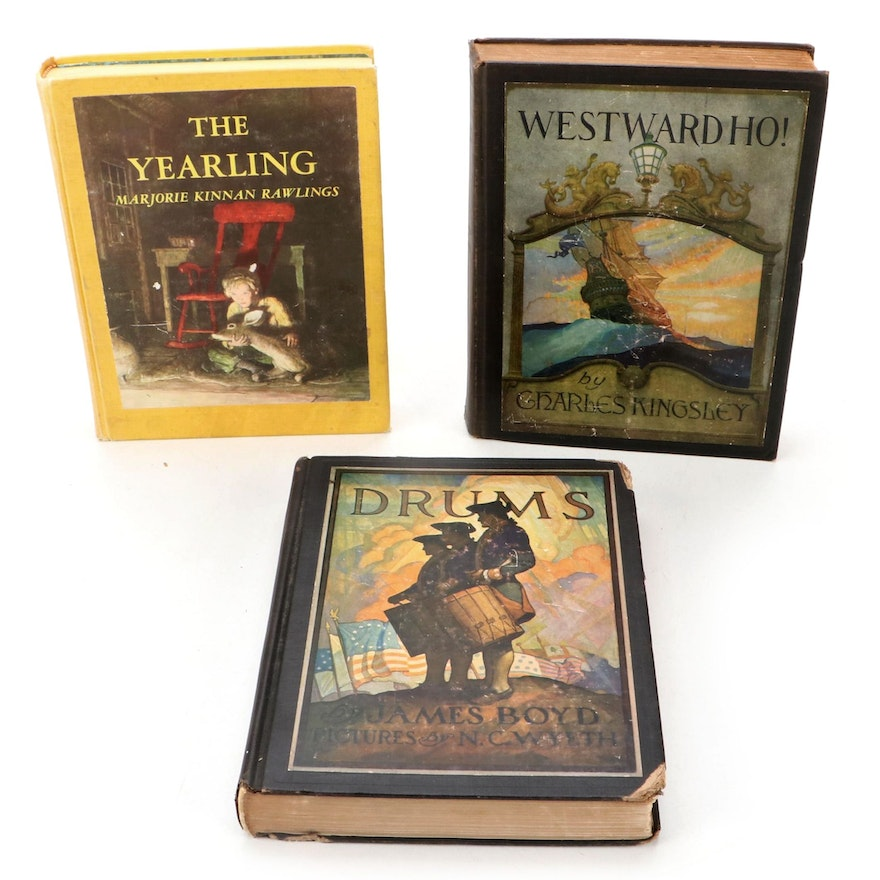 """N.C. Wyeth Illustrated Classics Including """"Drums,"""" Early to Mid-20th Century"""