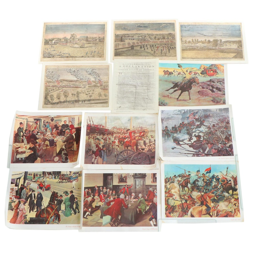 Offset Lithographs of American Historical Scenes