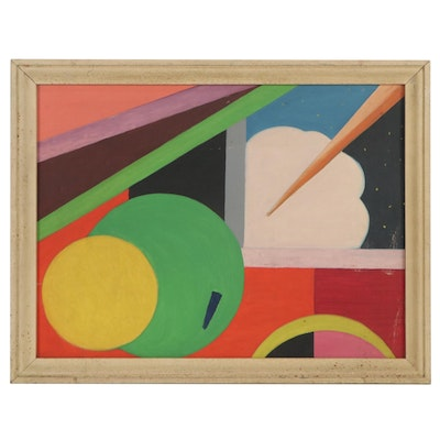 Abstract Oil Painting, Late 20th Century