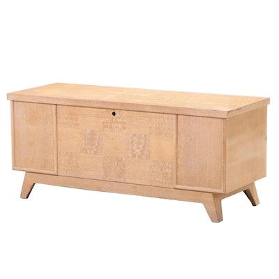 "Lane Mid Century Modern Blonde Oak and Cedar-Lined ""Aroma-Tite"" Chest"