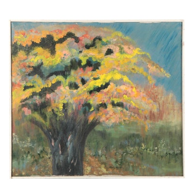 Becky Kendra Landscape Oil Painting, Late 20th Century