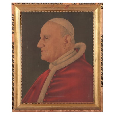 Offset Lithograph Portrait of Pope John XXIII, Late 20th Century