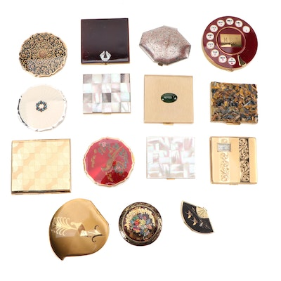Marhill Mother-of-Pearl and Metal Compacts with Other Metal Compacts