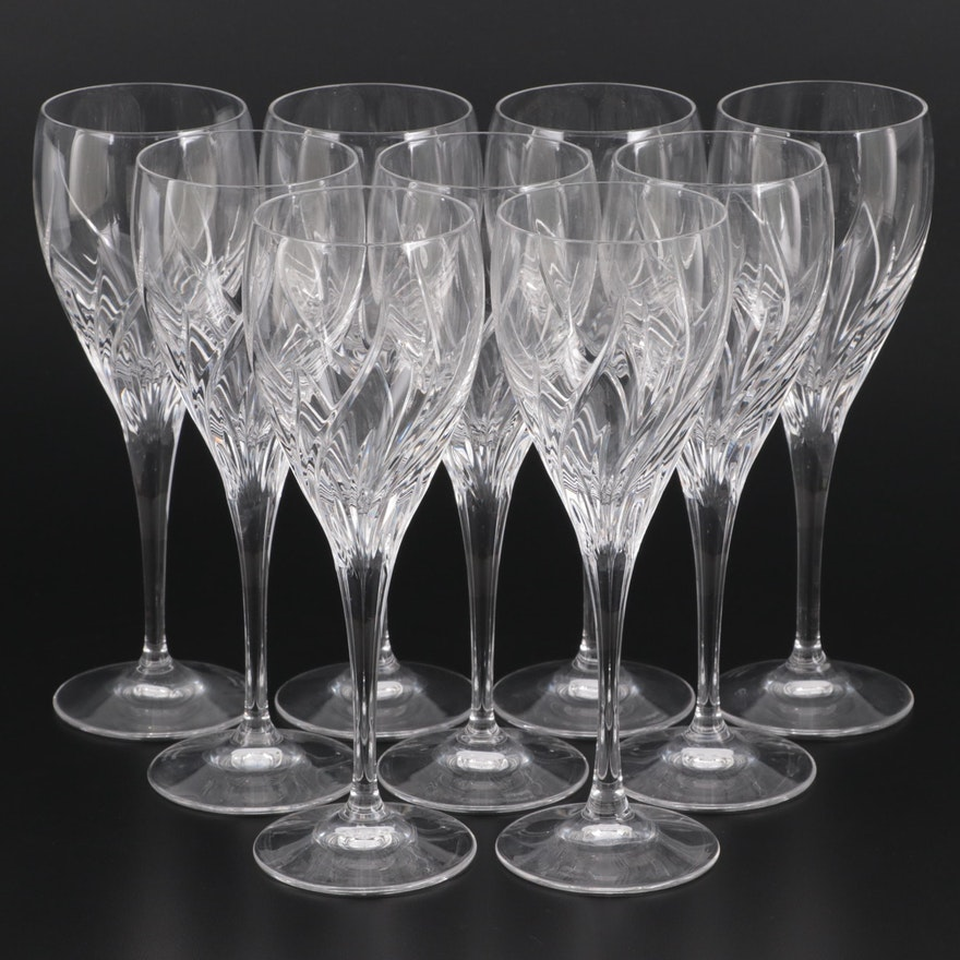 """Marquis by Waterford """"Summer Breeze"""" Crystal Water Goblets or White Wine Glasses"""