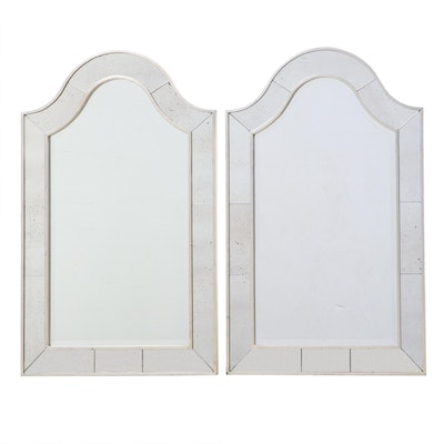 Pair of Contemporary Silver Gilt Mirrors