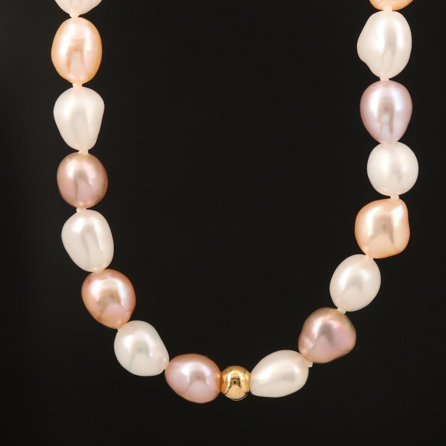 Rope Length Endless Pearl Necklace