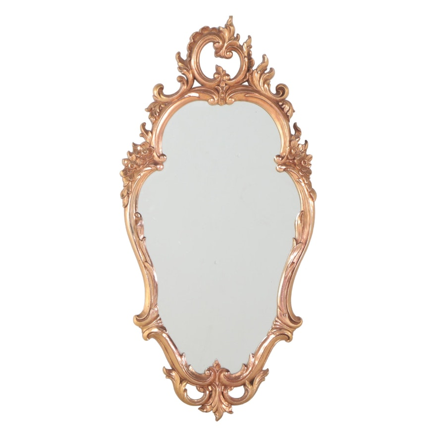 Syroco Baroque Style Gilt and Molded Plastic Mirror, Mid-20th Century