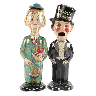 Louis Marx & Co. Charlie McCarthy and Mortimer Snerd Tin Litho Wind-Up Toys