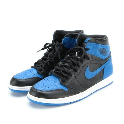 Men's Air Jordan 1 Retro High 'Royal' Basketball Sneakers