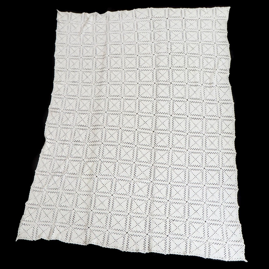 Crocheted Cotton Blanket