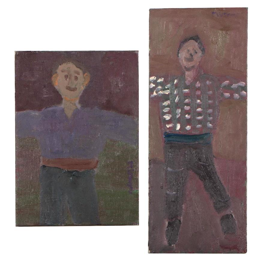 Jerald Mironov Figural Oil Paintings, Circa 2000