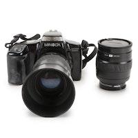 Minolta Maxxum 5000i SLR Camera with Lenses