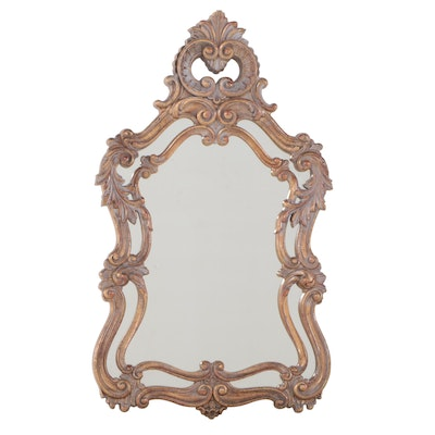 Baroque Style Gilt and Molded Plastic Mirror, Mid to Late 20th Century