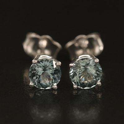 14K Spinel Stud Earrings