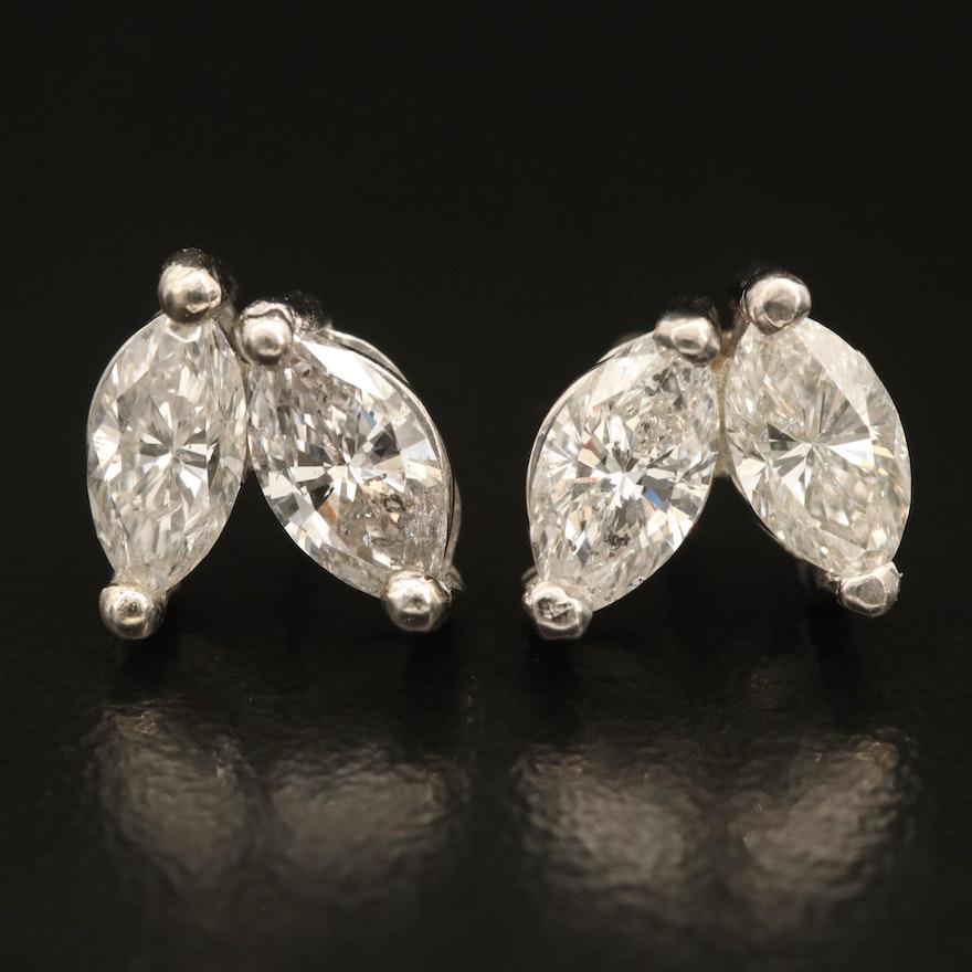 Platinum 1.92 CTW Diamond Earrings