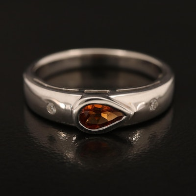 Sterling Citrine and Zircon Band