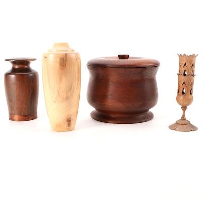 Spinning Aspen Studios Aspen Wood Vase, Pine Jar, Candleholder, Treenware Vessel