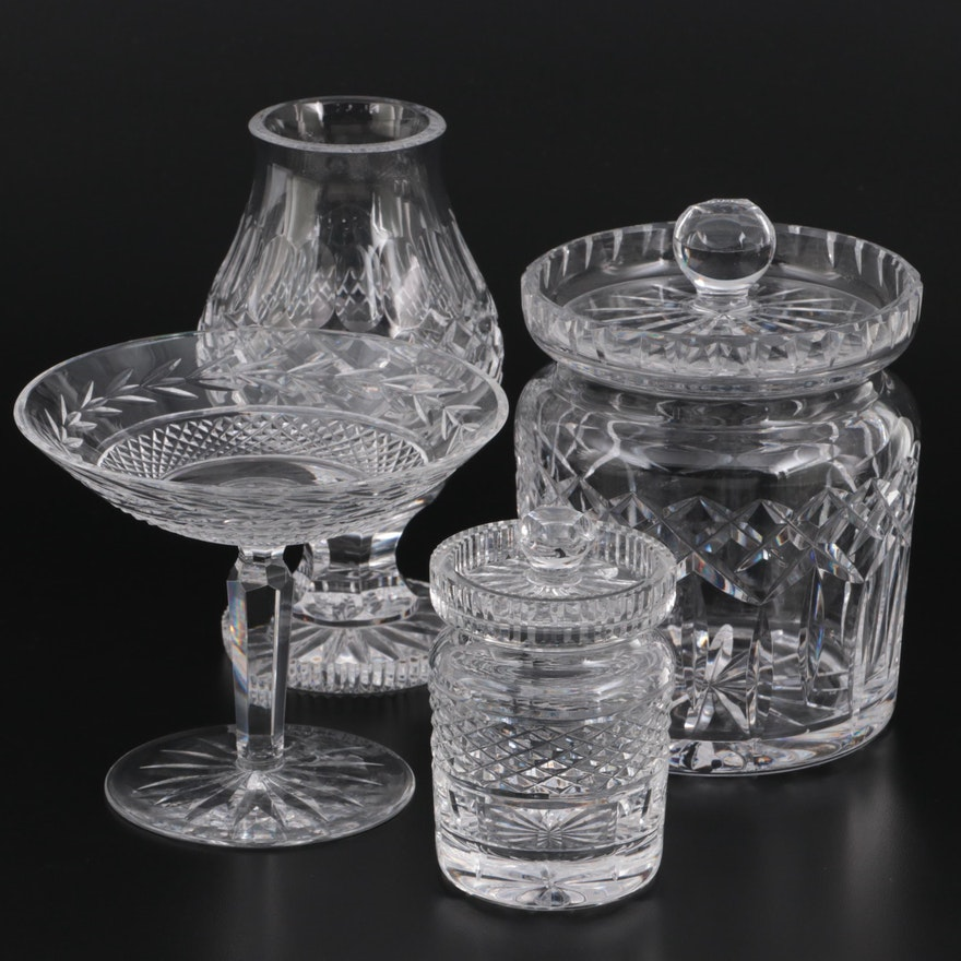 """Waterford Crystal """"Lismore"""" Biscuit Barrel and Other Waterford Table Accessories"""
