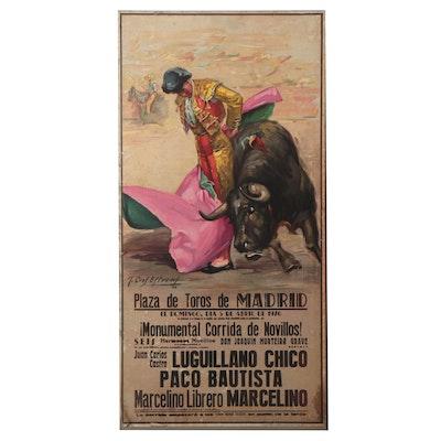 Lithograph Poster After José Cros Estrems, 1970