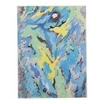 James Yoko Abstract Oil Painting, Mid-20th Century