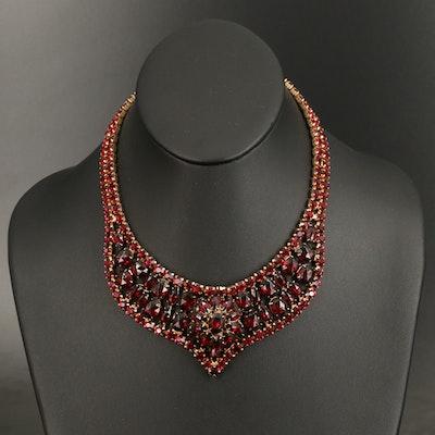 Vintage Rhinestone Princess Necklace