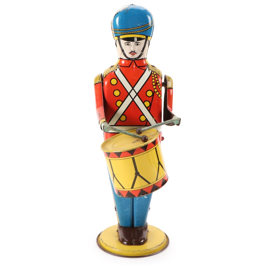 Wolverine Tin Lithograph No. 27 Drum Major Wind-Up Toy, 1930s