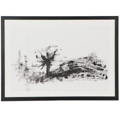 """Fred Tarr Mixed Media Painting """"Joshua Tree Desert Myth,"""" 2009"""