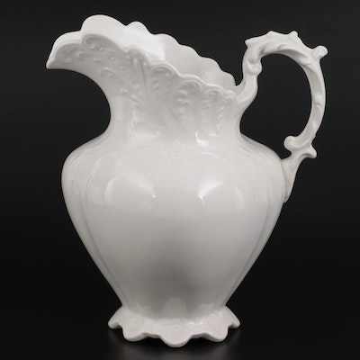 Dresden Potters Co. Ironstone Pitcher, Late 19th to Early 20th Century