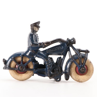 Champion Hardware Co. Cast Iron Toy Motorcycle, 1930s