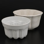 English Copeland and Other Ironstone Jelly Molds, Mid to Late 19th Century